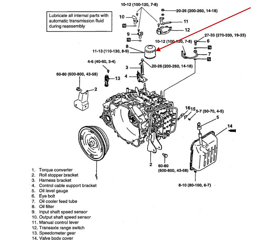 Hyundai Elantra Automatic Transmission Diagram