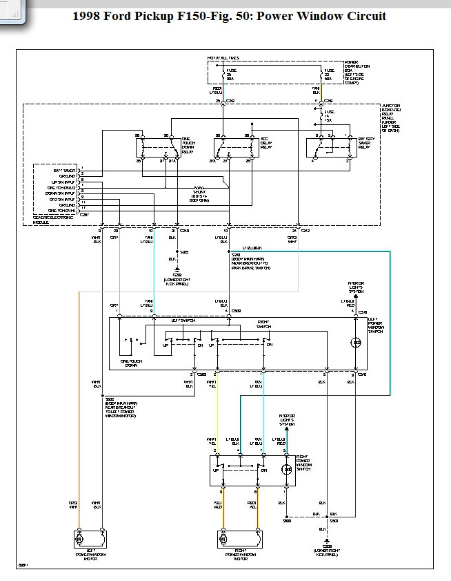 [DIAGRAM] 2000 Ford F 150 Window Wiring Diagram FULL