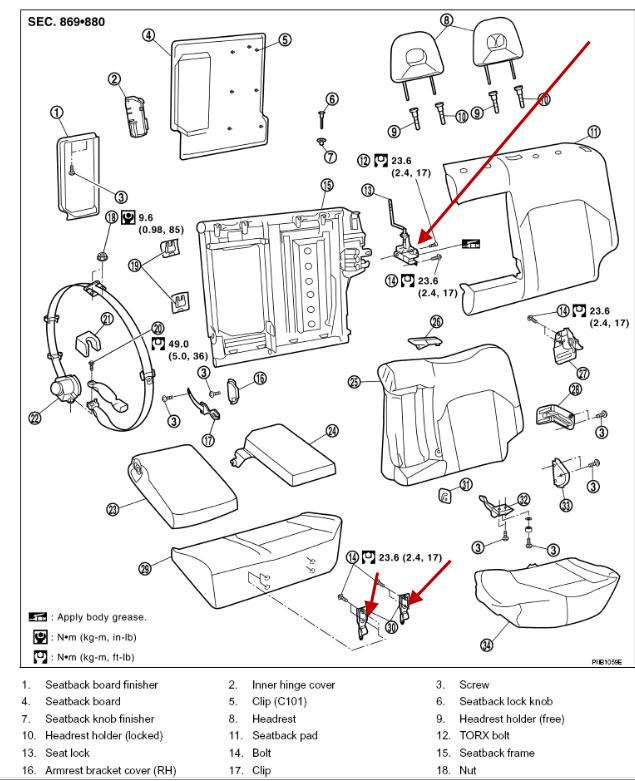 Xtrail Rear Seat Catch: Nissan Xtrail Rear Seat Catch