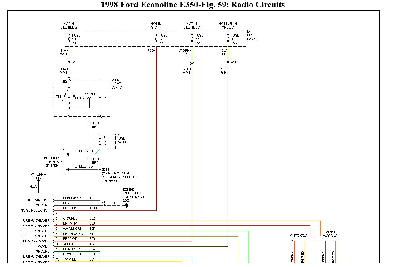 1999 ford f250 radio wiring diagram software to create network for 1998 e350 transit bus