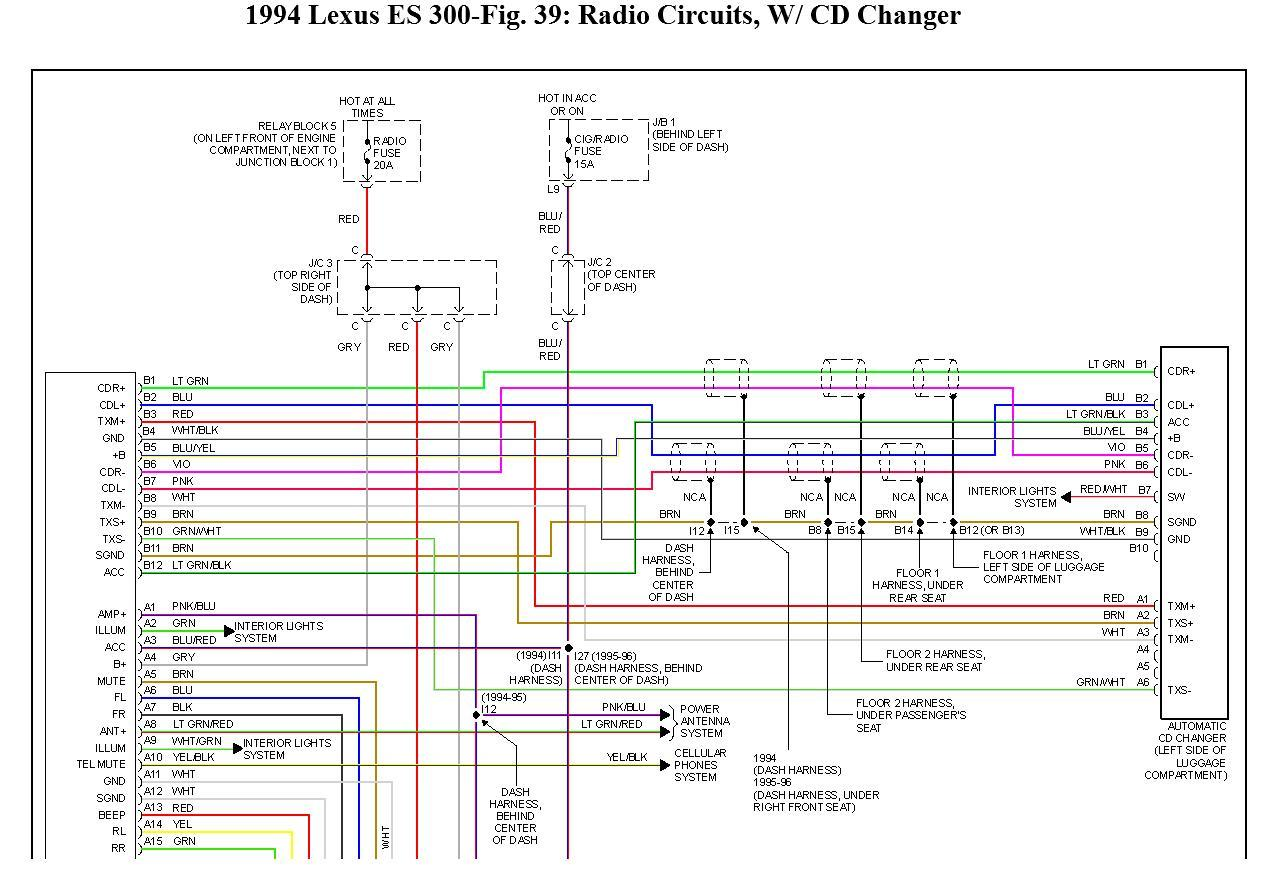 hight resolution of 96 lexus es300 radio wiring data diagram schematic 96 lexus es300 radio wiring