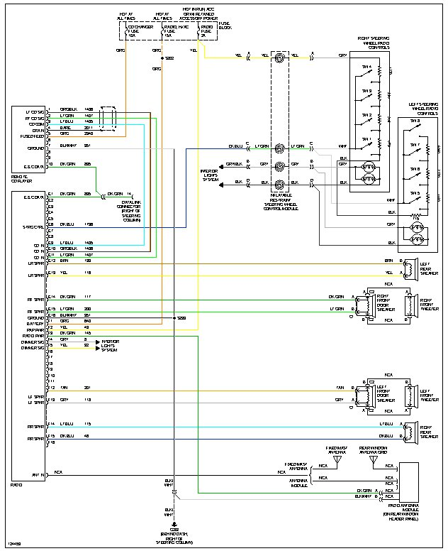 wiring diagram steering wheel audio controls what/where is