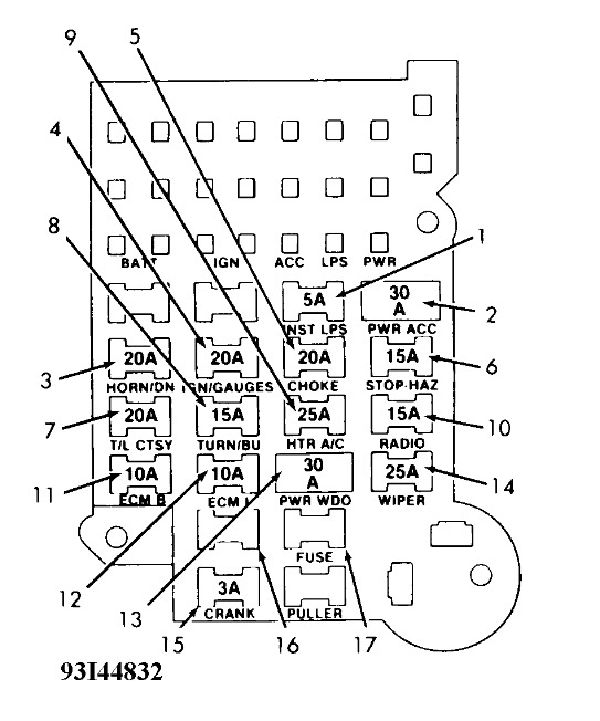 1988 Chevy S10 Fuse Box Diagram 2011 C300 Fuse Box Diagram