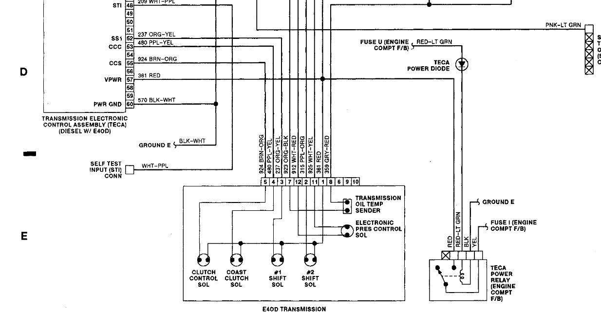 1993 Ford Transmission Wiring Diagram FULL HD Version
