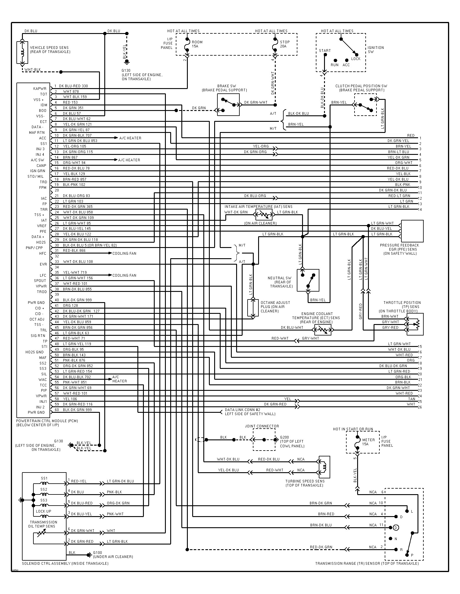 hight resolution of 1995 ford escort wiring diagram i need to find a color coded 95 ford l9000 wiring diagram 95 ford wiring diagram