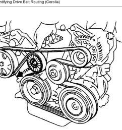 2007 toyota corolla belt diagram wiring diagram user 2007 toyota corolla 1 8 serpentine belt diagram [ 1062 x 822 Pixel ]