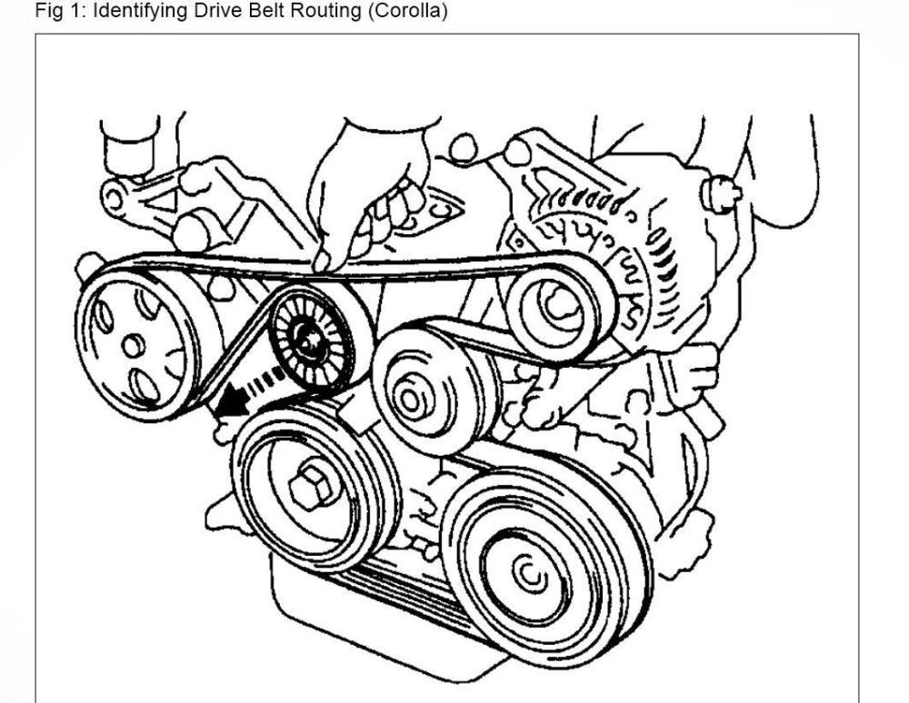 medium resolution of 2007 toyota corolla belt diagram wiring diagram user 2007 toyota corolla 1 8 serpentine belt diagram