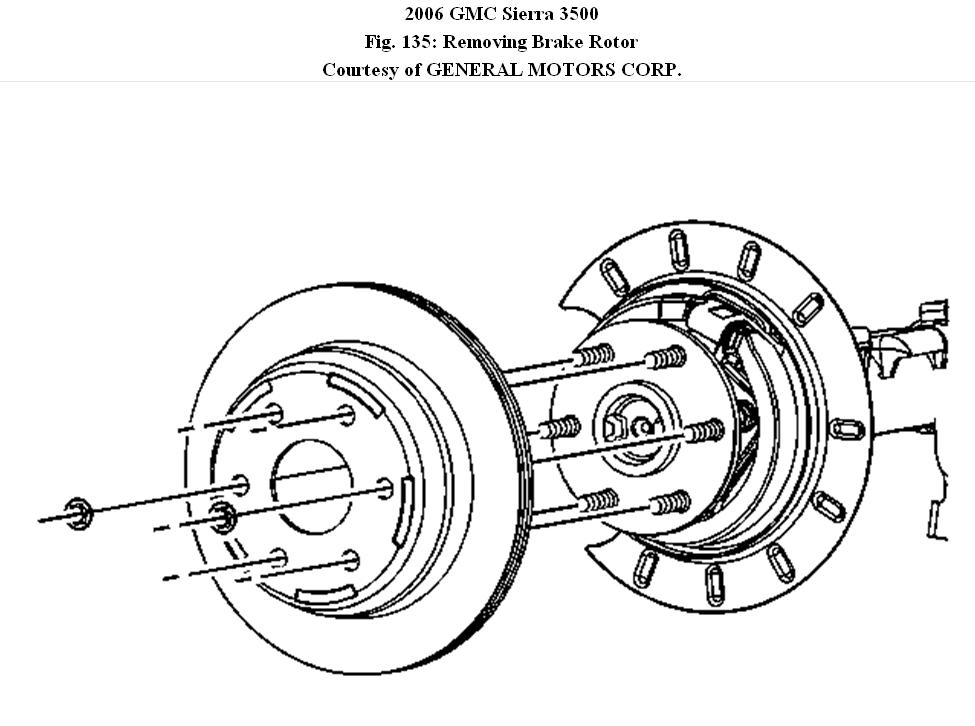 Disk Brakes: How to Removal of Rear Rotors on 2006 GMC