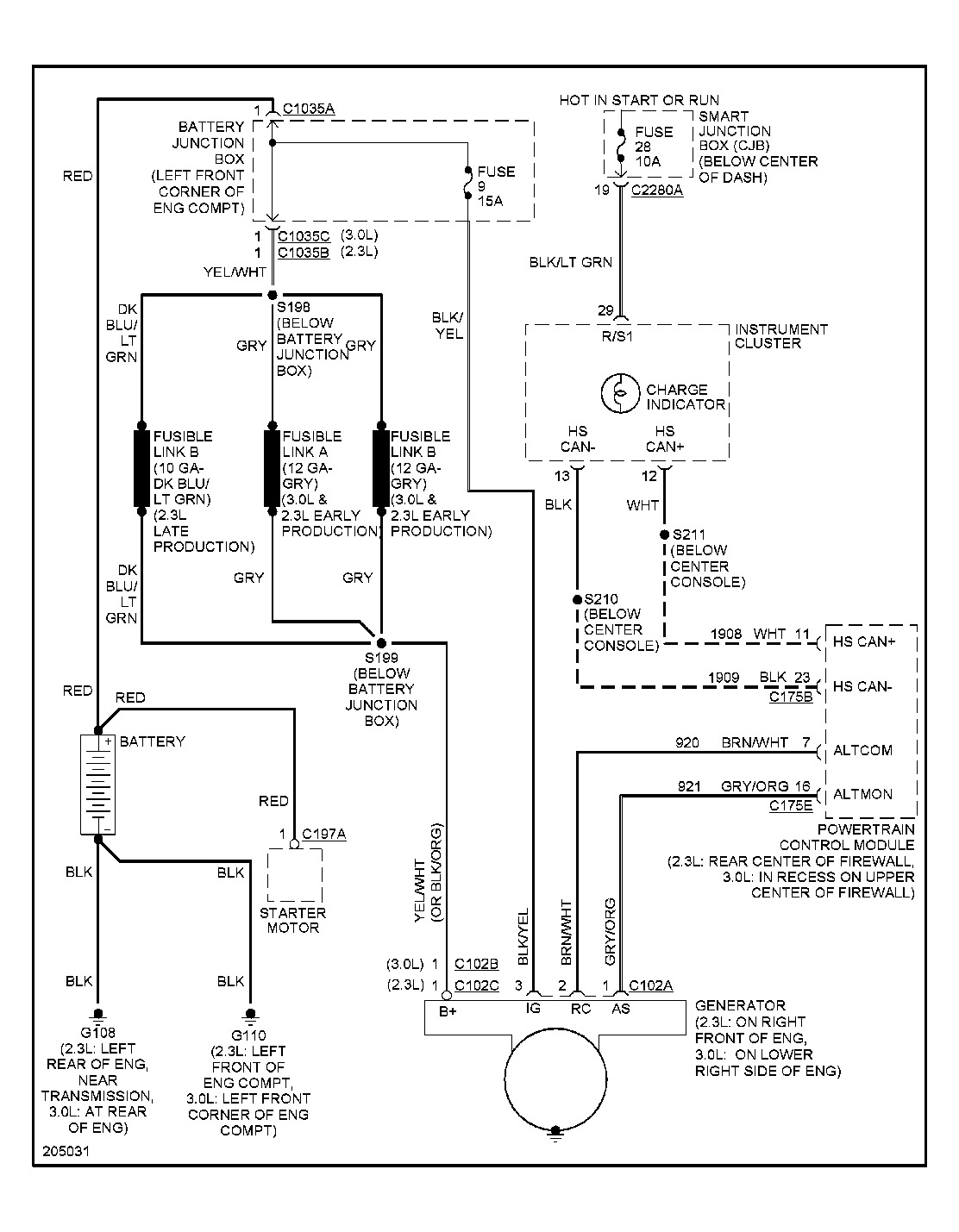 2005 Ford Escape Charging System Problem: a Few Weeks Ago