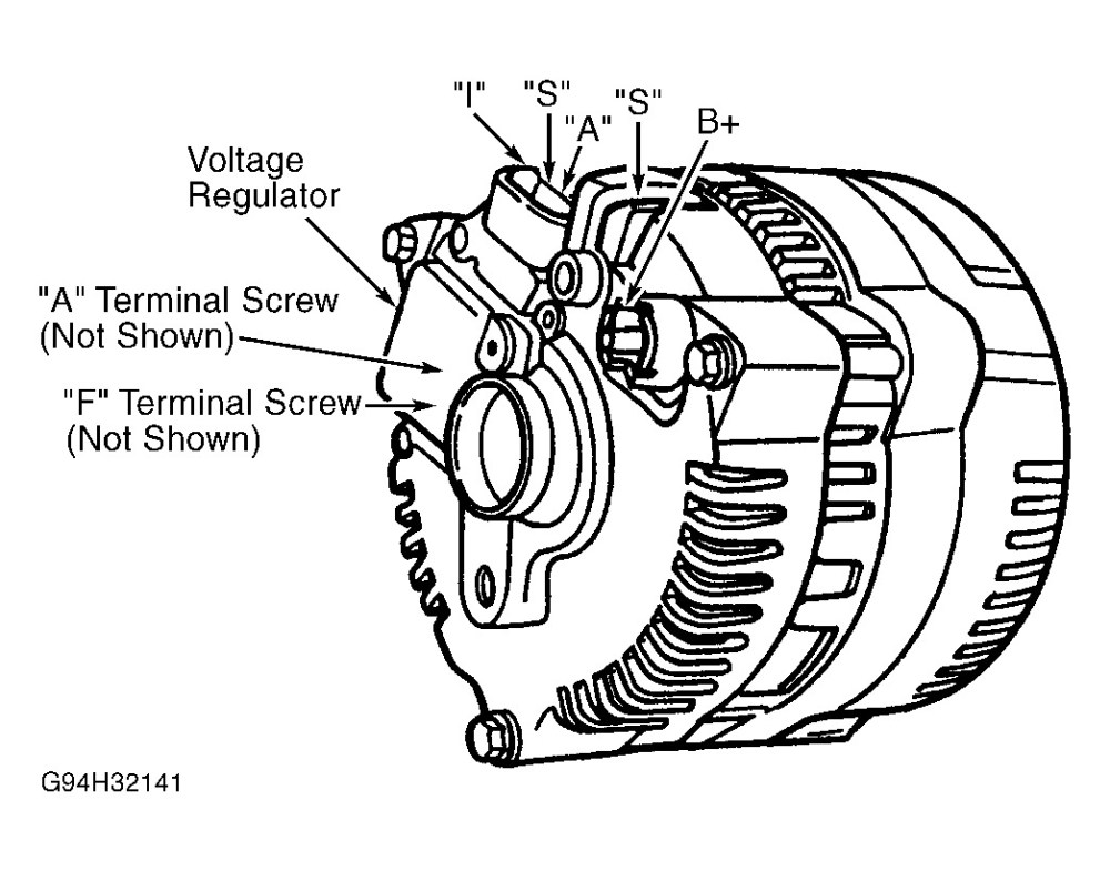 medium resolution of  1998 ford ranger alternator wiring thumb