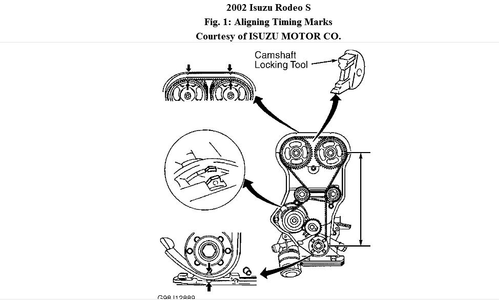 2002 Isuzu Rodeo Timing Problem: When Replacing a Head
