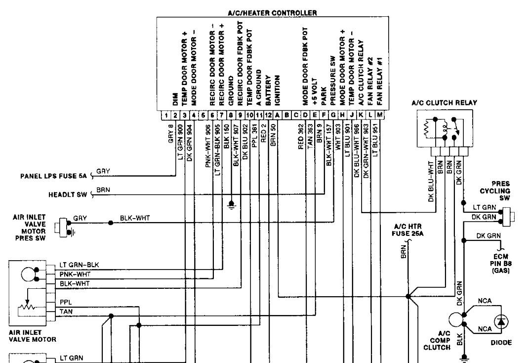 wiring diagram motor control honeywell junction box climate diagrams 4 1 artatec automobile de a c heater panel dark no functions work rh 2carpros com acc bmw e46