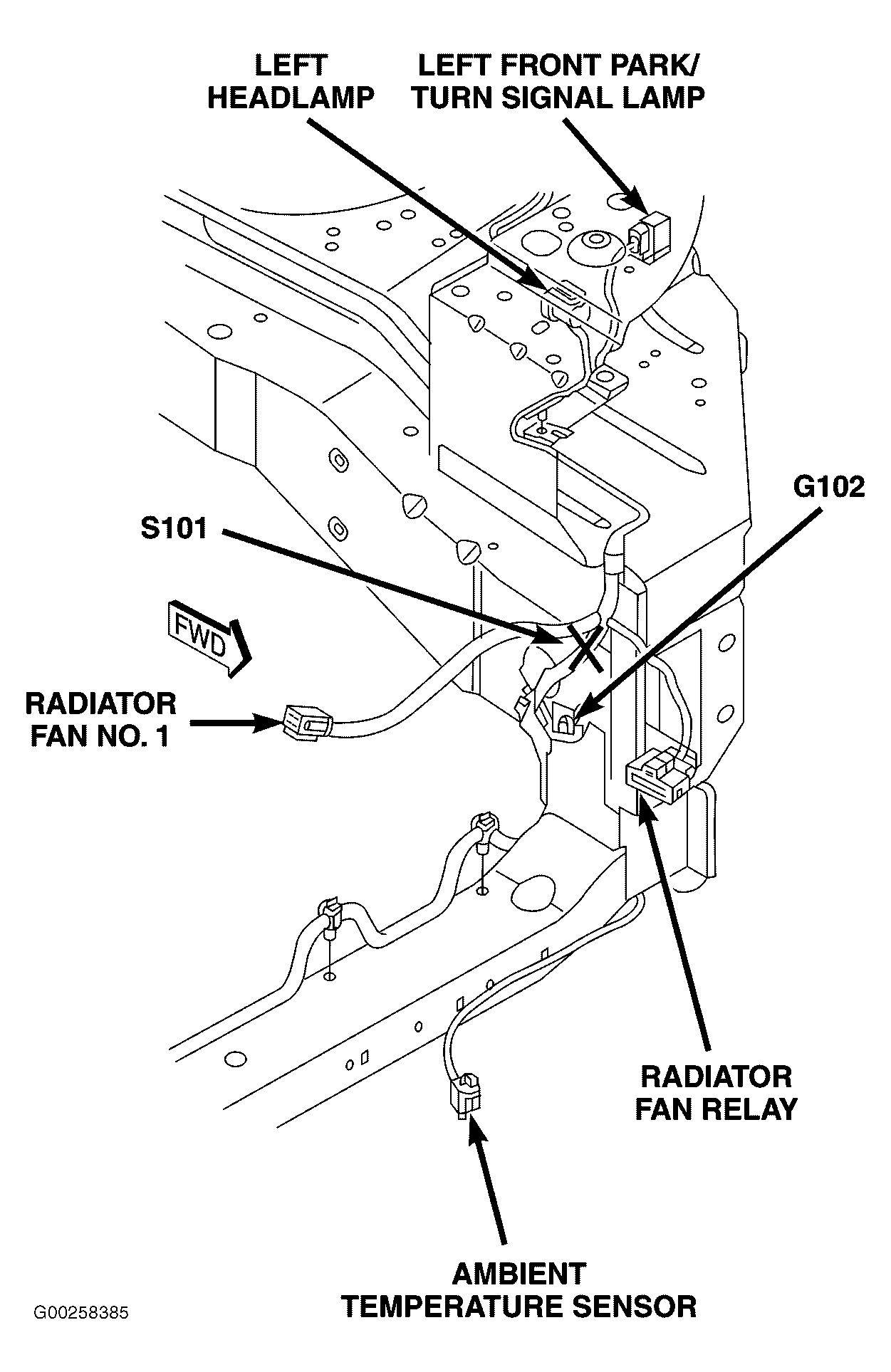 hight resolution of radiator fan relay on 2002 dodge caravan cooling system diagram chrysler electric fan wiring diagram