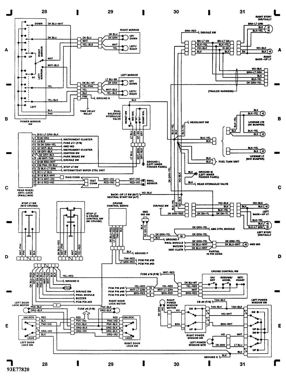 medium resolution of tail and parking lights not working 1st head light switch went rh 2carpros com chevy express 1993 chevy 2500 park lamp wiring diagram