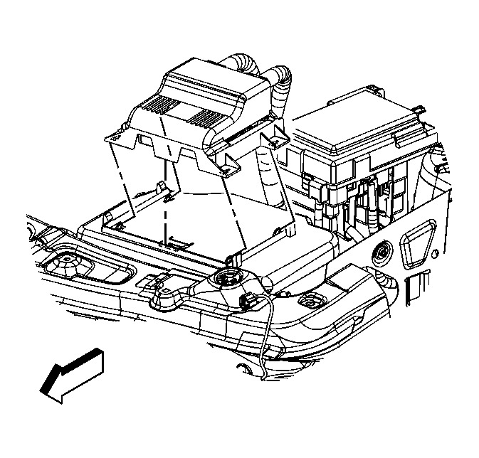 2010 chevy equinox body control module location