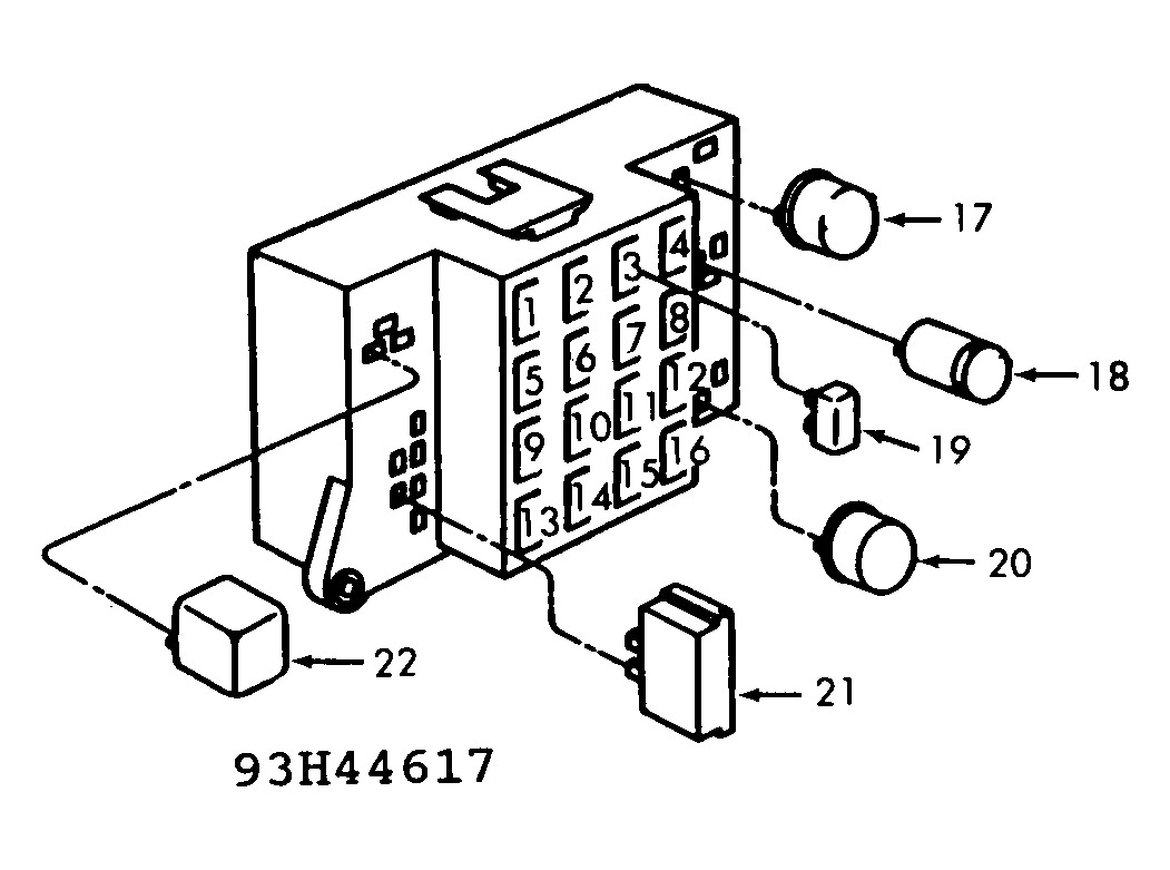 1992 Dodge Dakota Fuse Block. Dodge. Auto Fuse Box Diagram