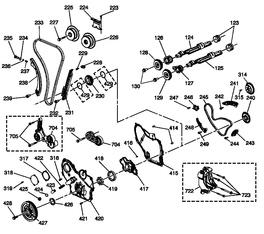 2009 Chevrolet Malibu Timing Chain Diagram: Timing Chain