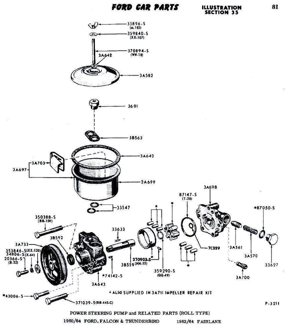 medium resolution of 1964 ford thunderbird power steering resevor need exploded parts 1964 ford falcon power steering hose 1964 ford power steering diagram