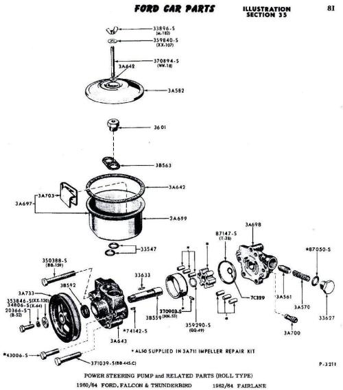 small resolution of 1964 ford thunderbird power steering resevor need exploded parts 1964 ford falcon power steering hose 1964 ford power steering diagram