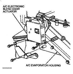 Heater Door Actuator Clip/Arm: While Replacing the Heater