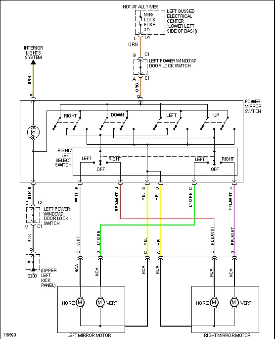 gmc power window wiring diagram