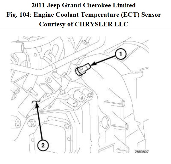 2011 Jeep Grand Cherokee Engine Coolant Sensor Replacement,