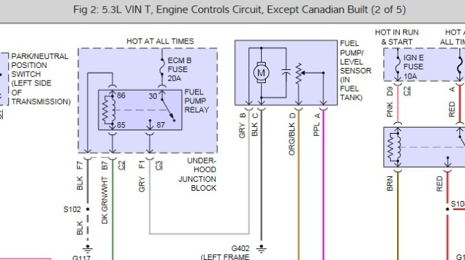 fuel pump wiring if you disconnect the fuel pump while