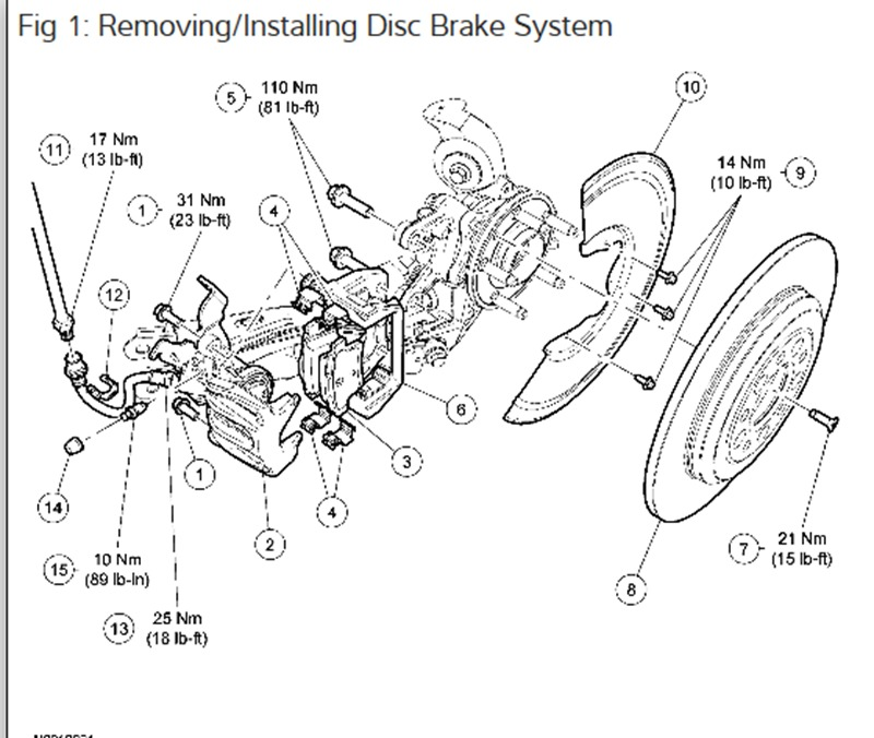 2005 Ford Freestyle Changing the Rear Brakes: I Read a
