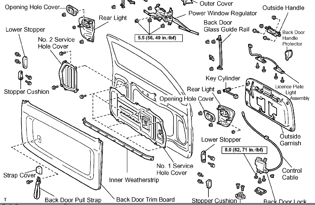 2007 Toyota Tundra Door Parts Diagram External • Wiring