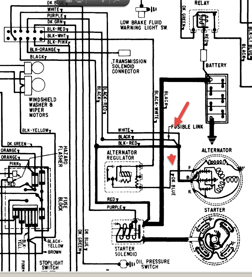 Alternator Wiring Diagram 1964 Pontiac Catalina. Pontiac