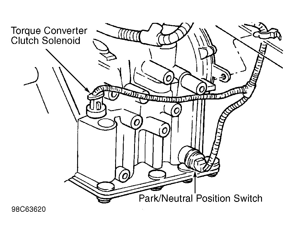 Neutral Safety Switch Location: Four Cylinder Front Wheel
