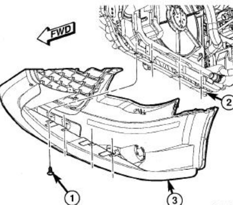 Service manual [How To Remove Front Bumper 1998 Chrysler