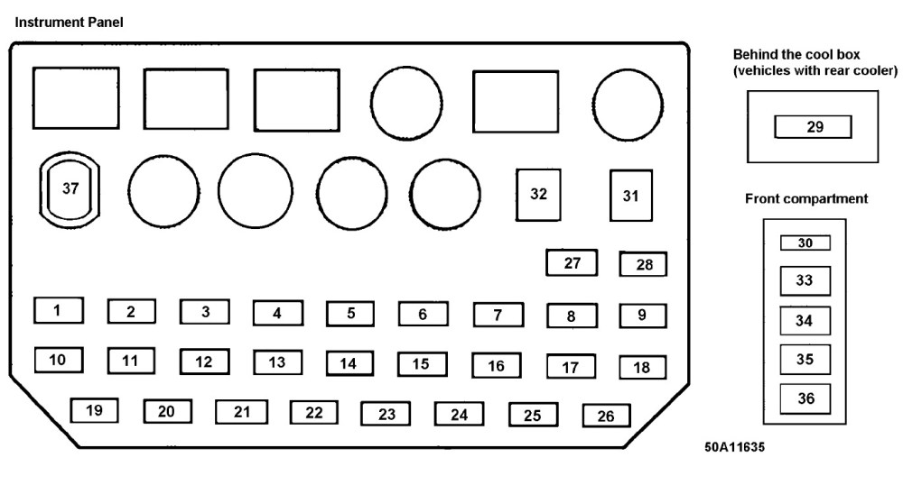 medium resolution of fuse box for 1992 toyota previa wiring diagram structure