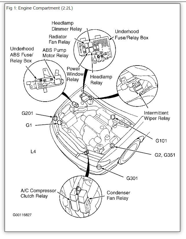 Fuse Box Diagram Ac Clutch 2 2 Liter 97 Honda Accord : 52