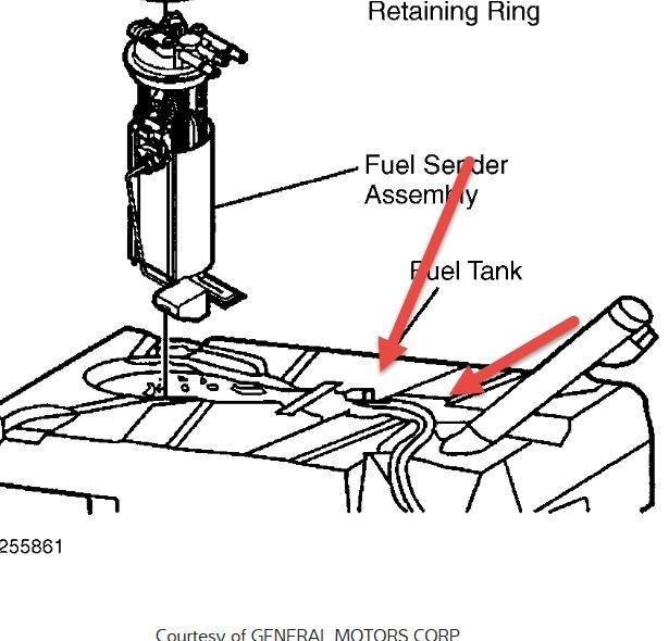 1999 Cadillac Deville Fuel Filler Neck Installation: I
