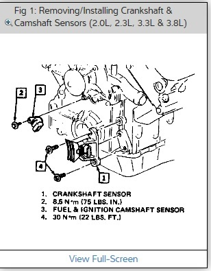 1990 Oldsmobile 98 Replacing the Cam Positioning Sensor: I