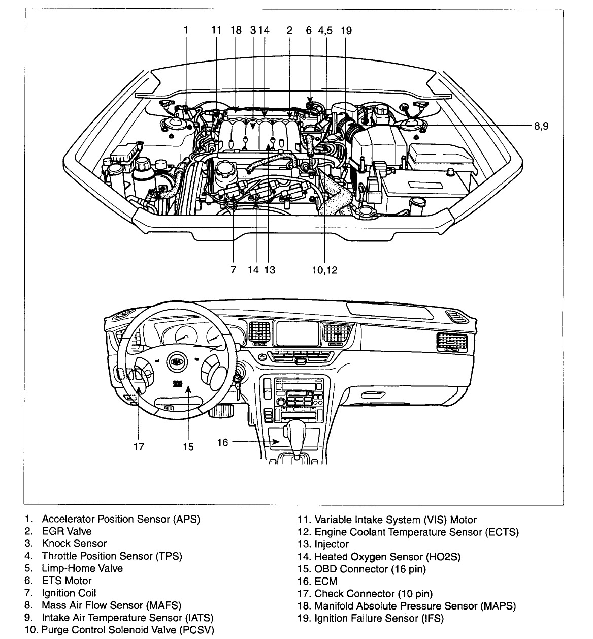 2004 Kium Sorento Engine Diagram