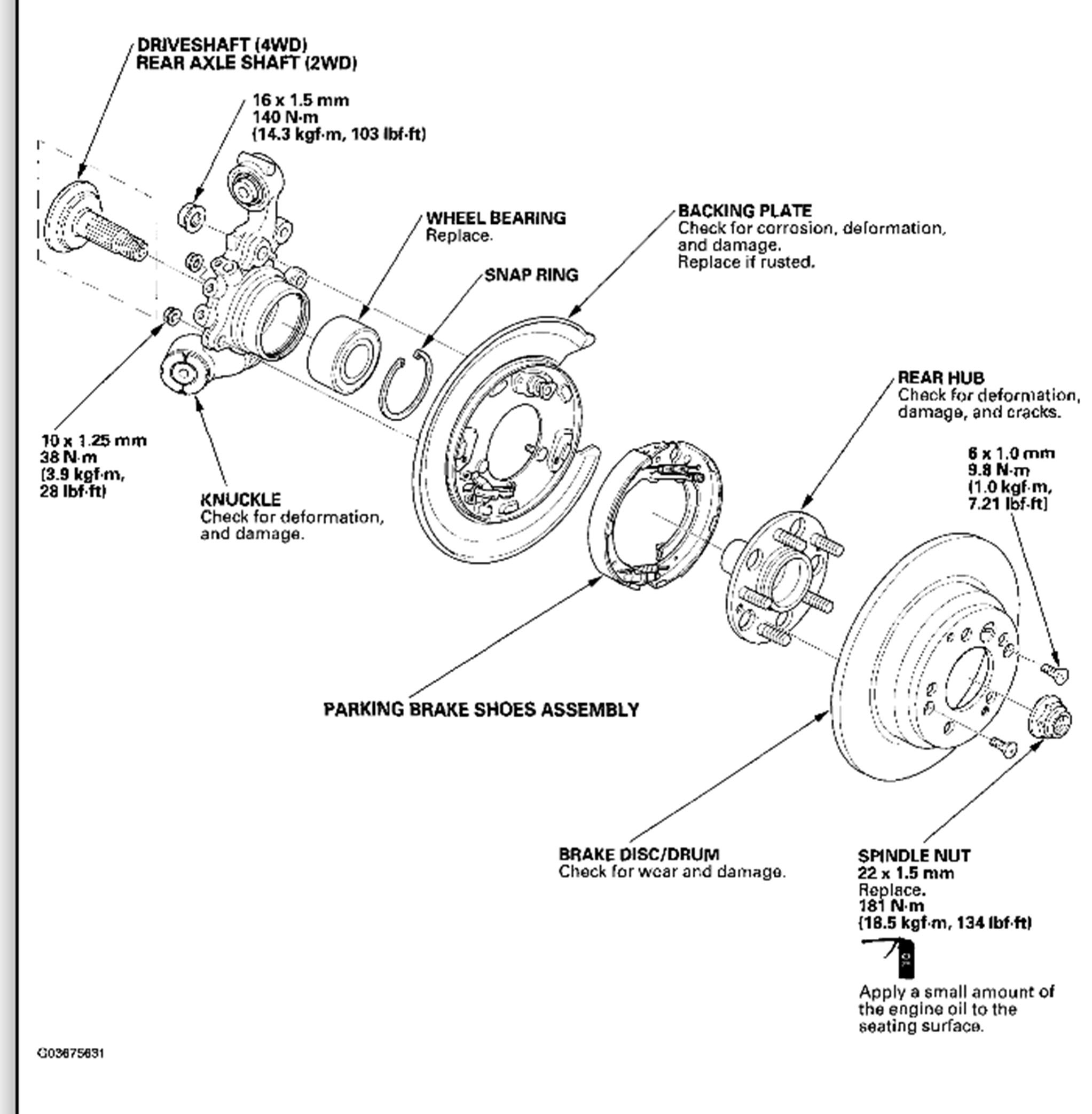 Honda Cr V Rear Suspension Diagram