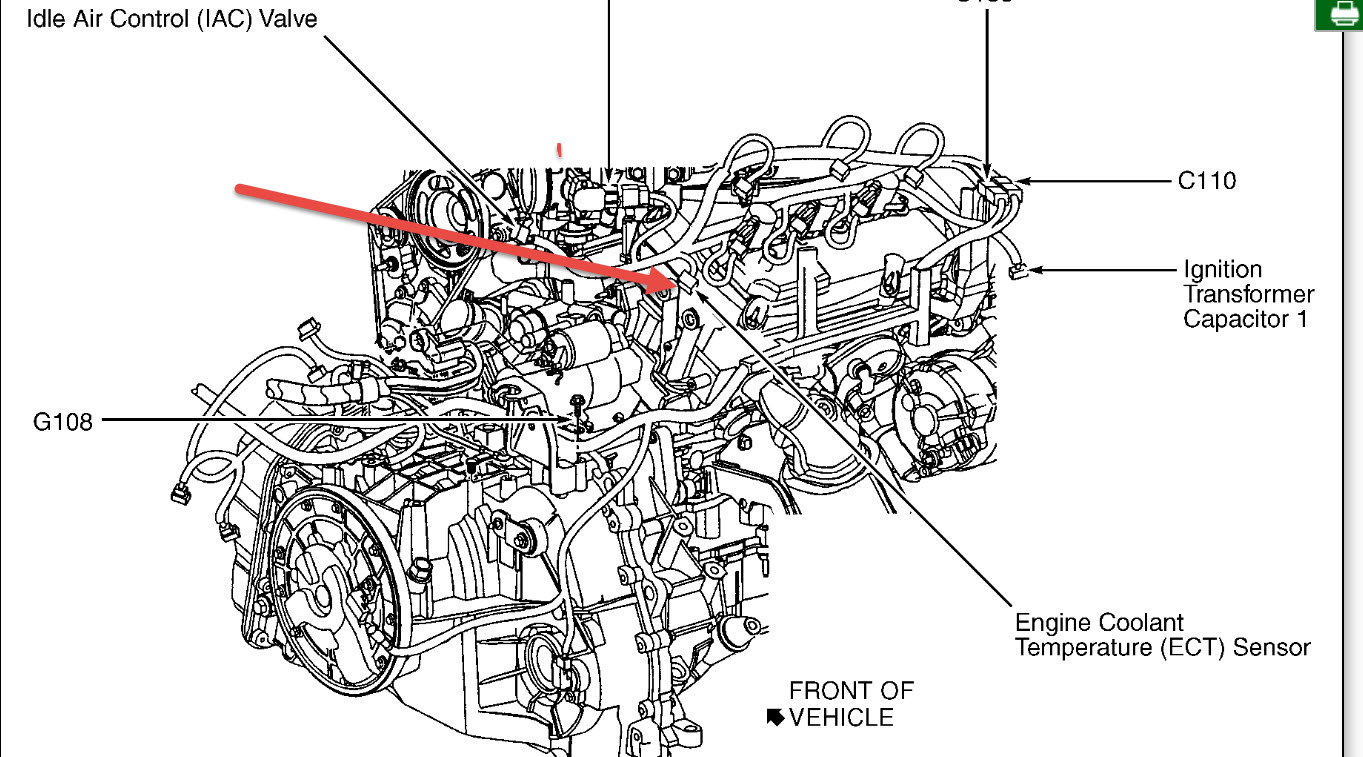 Coolant Temp Sensor Location: Engine Cooling Problem 6 Cyl