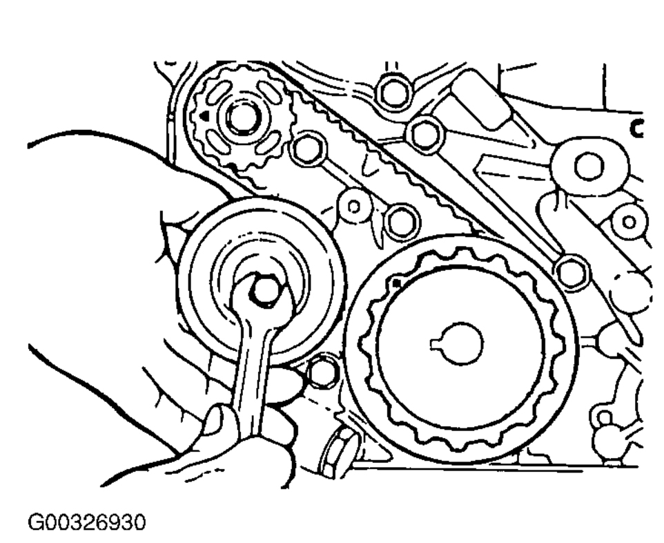 how to adjust a 2004 kia optima timing belt tensioner