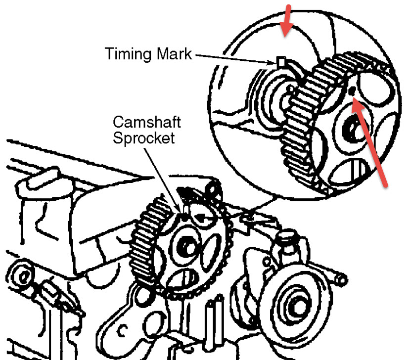 Cams: I Need Cam Shaft Timing Marks for 2005 Kia Spectra 2.0