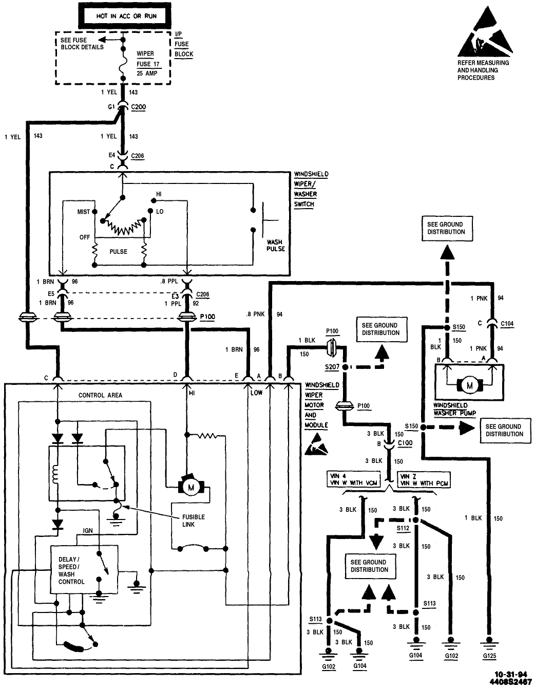 wiper wiring diagram toyota