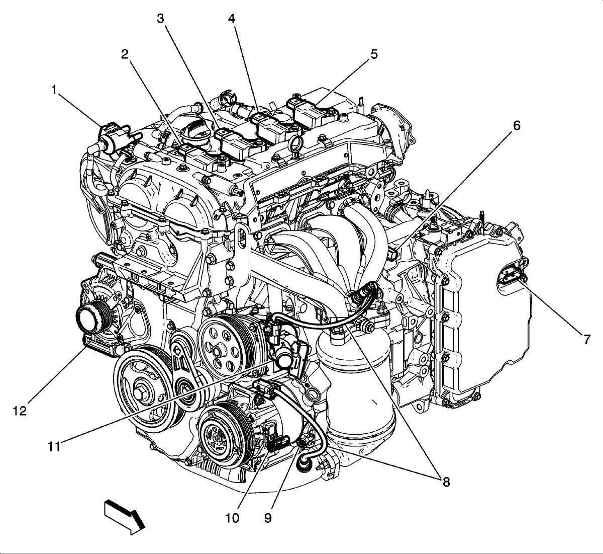 2013 Chevrolet Malibu Engine Diagram