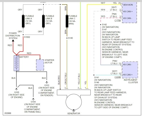 small resolution of ford charging system wiring diagram wiring diagram paper 2002 ford taurus charging system wiring diagram wiring