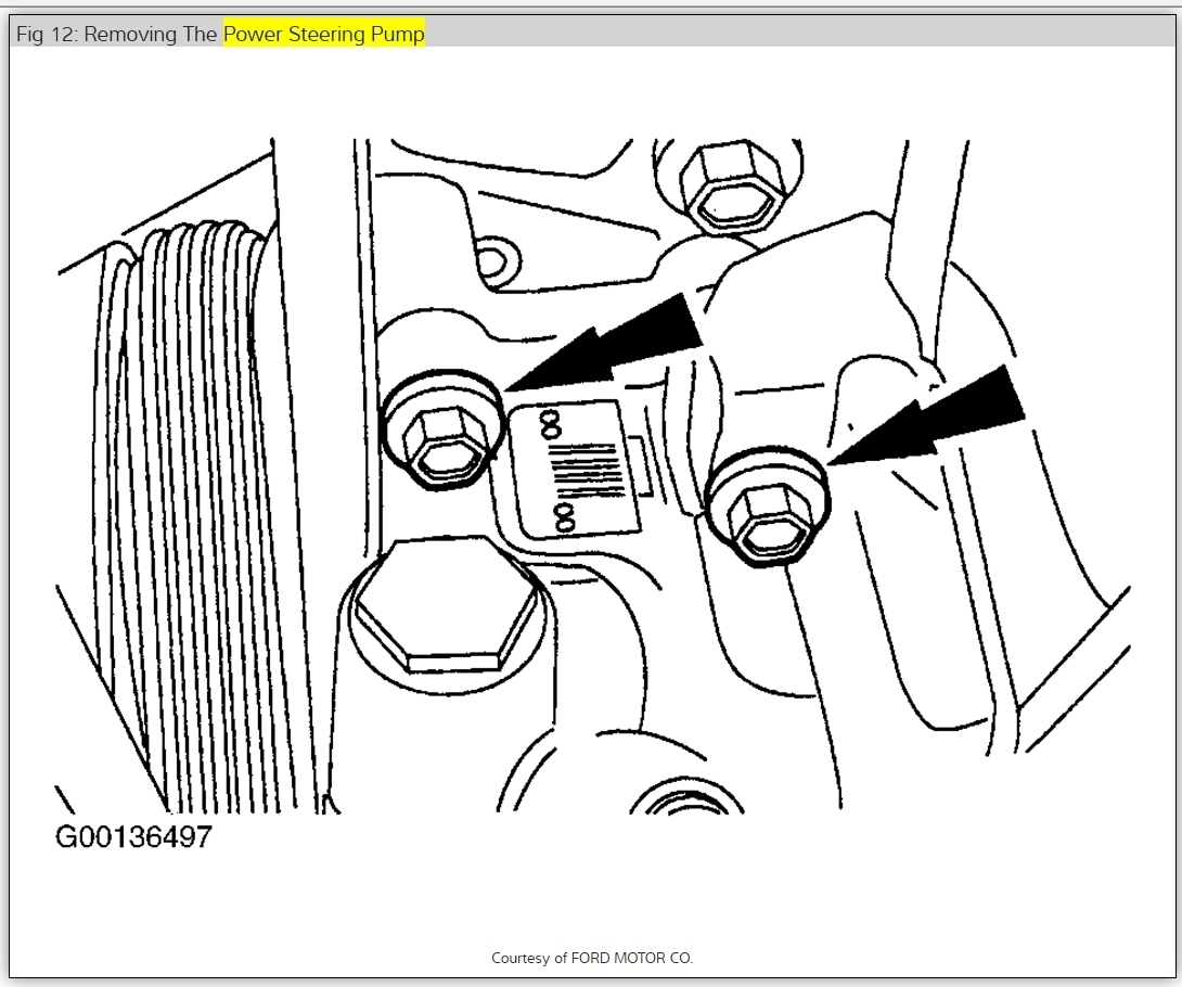 Removal Of Power Steering Pump How Do I Remove Power