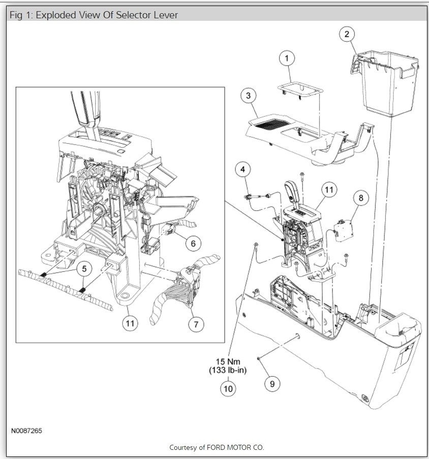 Service manual [2010 Ford Escape Gear Shift Light Bulb
