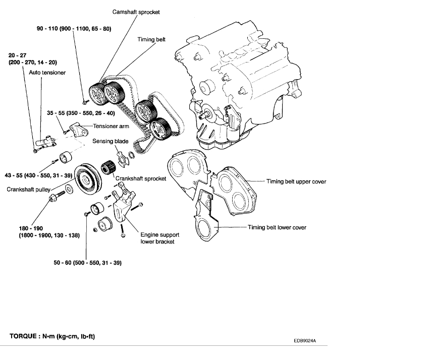 kia carnival timing belt diagram of back muscles and ligaments 2002 engine mechanical problem thumb
