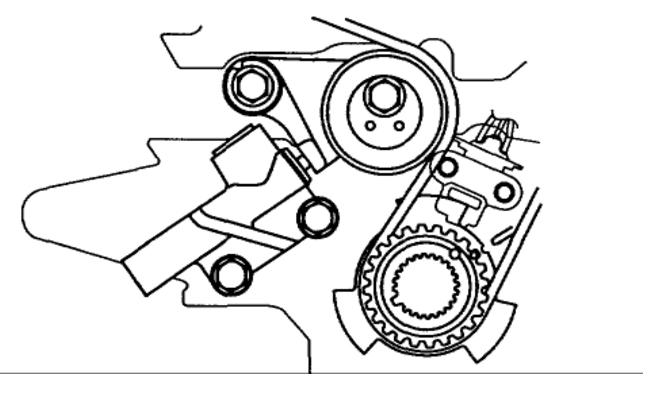2002 Kia Carnival Timing Belt Diagram: Engine Mechanical