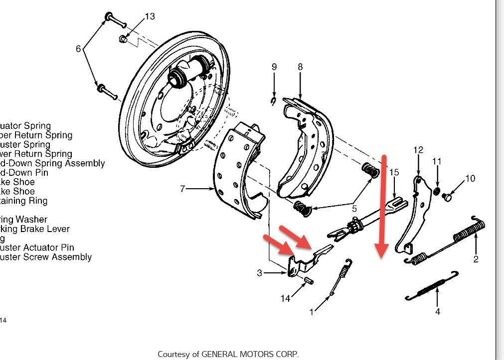 Ford f700 rear brake adjustment
