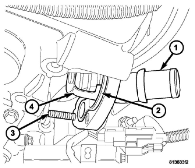 dodge 2 4 engine diagram vw golf 1 ignition wiring how to replace a thermostat housing seal gasket on thumb